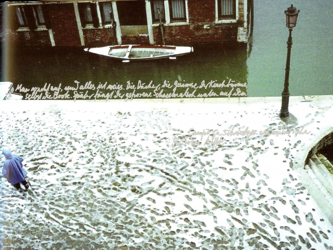 1.3-8 2004 Erica Pedretti - Fussspuren im verschneiten Venedig 001